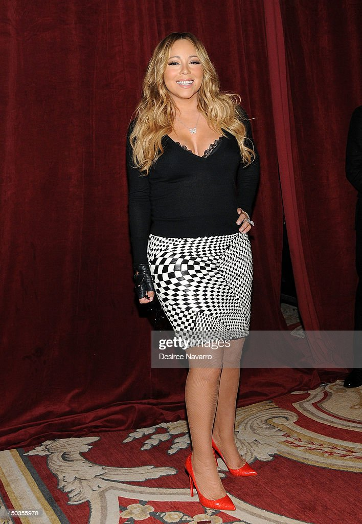Singer Mariah Carey announces The Launch Of Her Go N'Syde Bottle 'Butterfly' at the Saint Regis Hotel on June 9 2014 in New York City