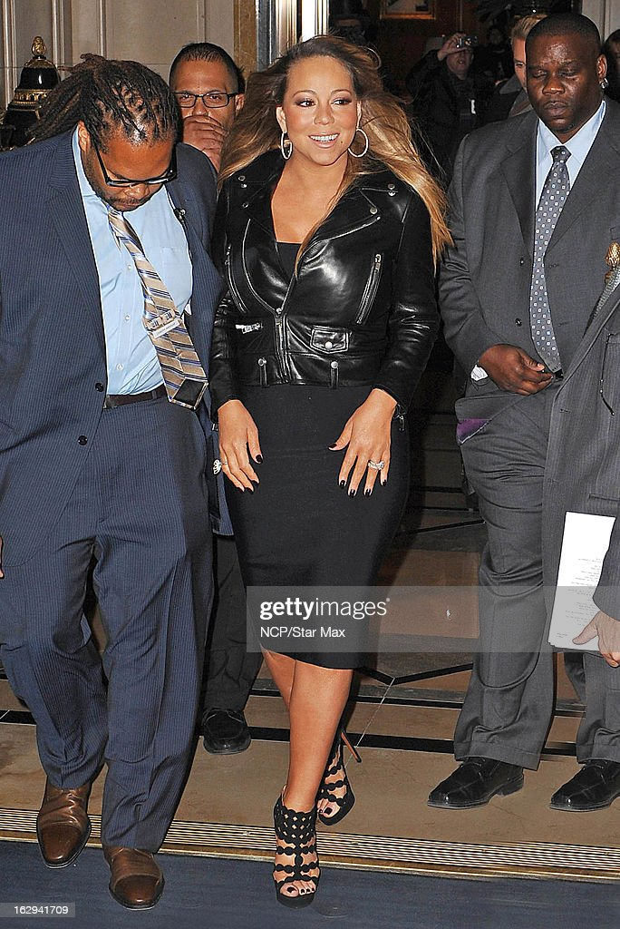 Singer Mariah Carey as seen on March 1 2013 in New York City