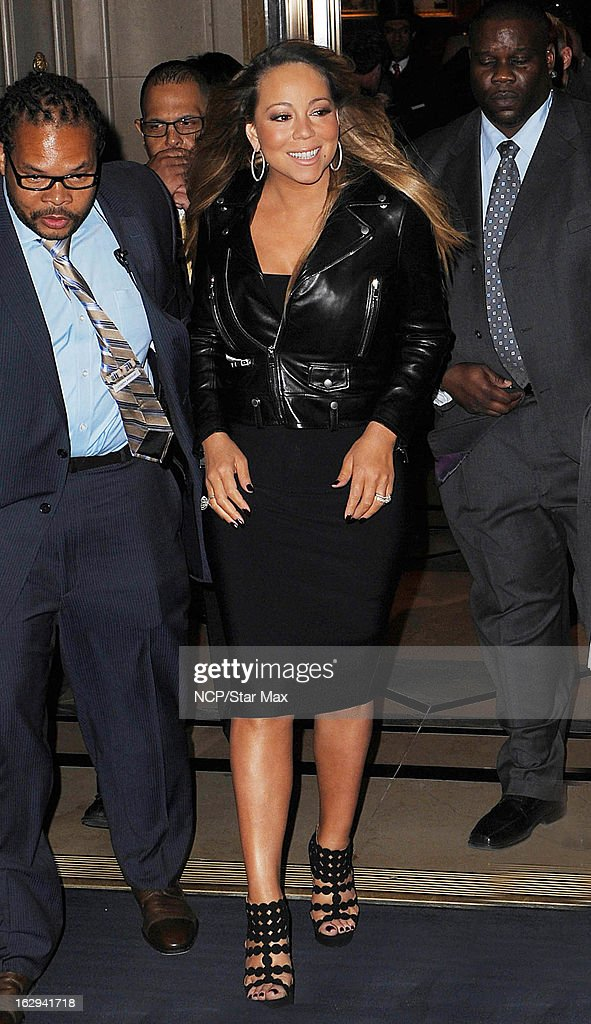 Singer Mariah Carey as seen on March 1, 2013 in New York City.