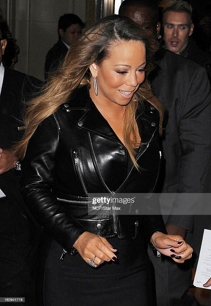 Singer <a gi-track='captionPersonalityLinkClicked' href=/galleries/search?phrase=Mariah+Carey&family=editorial&specificpeople=171647 ng-click='$event.stopPropagation()'>Mariah Carey</a> as seen on March 1, 2013 in New York City.