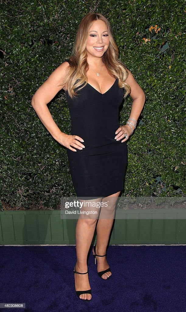 Singer Mariah Carey attends Hallmark Channel and Hallmark Movies and Mysteries at the 2015 Summer TCA Tour at a private residence on July 29, 2015 in Beverly Hills, California.
