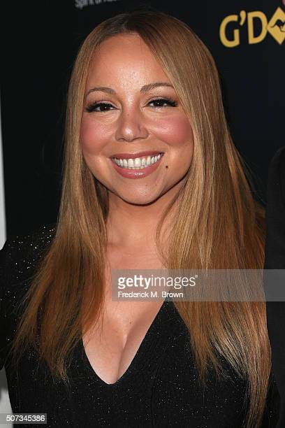 Singer Mariah Carey attends the 2016 G'Day Los Angeles Gala at Vibiana on January 28 2016 in Los Angeles California
