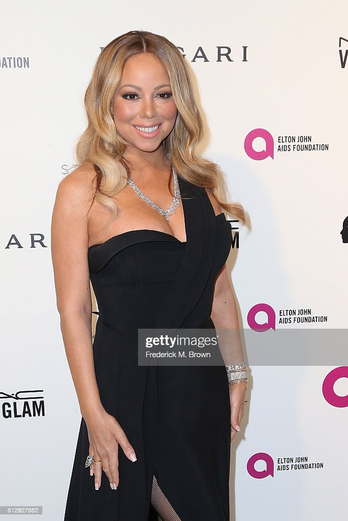 Singer <a gi-track='captionPersonalityLinkClicked' href=/galleries/search?phrase=Mariah+Carey&family=editorial&specificpeople=171647 ng-click='$event.stopPropagation()'>Mariah Carey</a> attends the 24th Annual Elton John AIDS Foundation's Oscar Viewing Party on February 28, 2016 in West Hollywood, California.