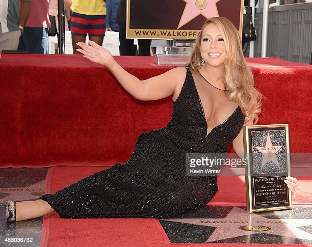 Singer Mariah Carey is honored with Star on The Hollywood Walk of Fame on August 5 2015 in Hollywood California