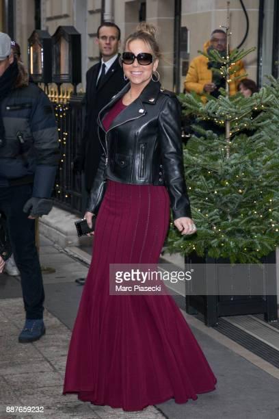 Singer Mariah Carey is seen on December 7 2017 in Paris France