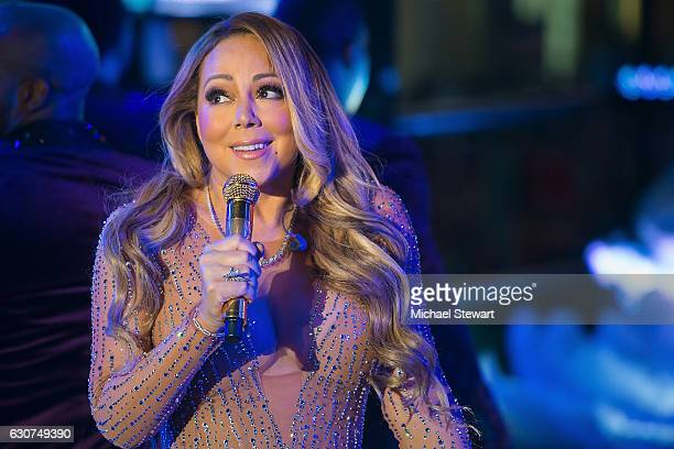 Singer Mariah Carey performs during Dick Clark's New Year's Rockin' Eve in Times Square on December 31 2016 in New York City
