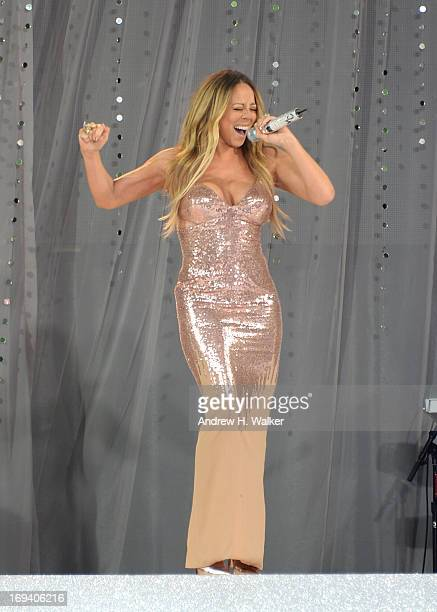 Singer Mariah Carey performs on ABC's 'Good Morning America' at Rumsey Playfield on May 24 2013 in New York City