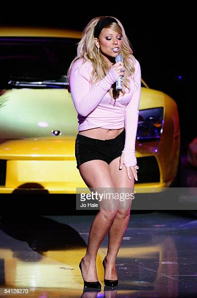 Singer Mariah Carey performs on stage at the 2005 World Music Awards at the Kodak Theatre on August 31 2005 in Hollywood California