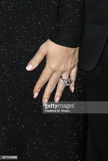 Singer Mariah Carey ring detail attends the 2016 G'Day Los Angeles Gala at Vibiana on January 28 2016 in Los Angeles California