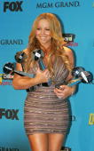 Singer Mariah Carey winner of Hot 100 Song of the Year Hot 100 Airplay of the Year Female RB/Hip Hop Artist of the Year Female Billboard 200 Album...