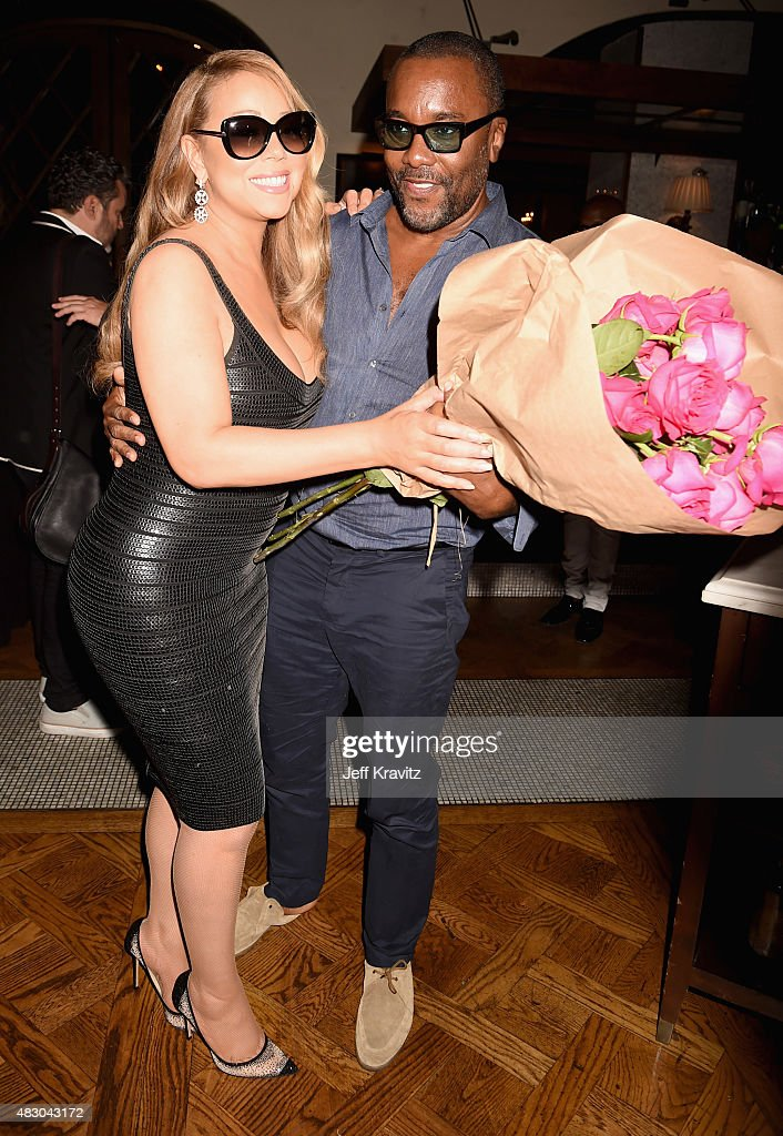 Singer Mariah Carey with director/producer Lee Daniels is honored with Star on The Hollywood Walk of Fame on August 5 2015 in Hollywood California