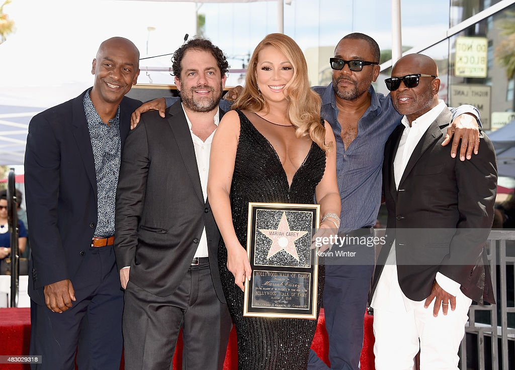 Singer Mariah Carey with President of Programming BET Stephen Hill directors/producers Brett Ratner and Lee Daniels and Chairman and CEO Epic Records...