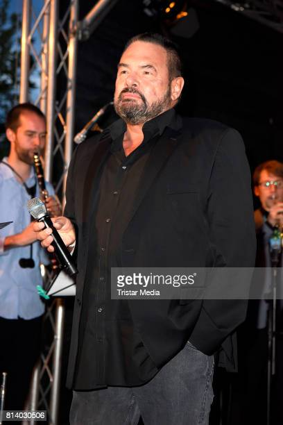 Singer Marian Gold of the band Alphaville performs the 70th anniversary party of Budde Music on July 13 2017 in Berlin Germany