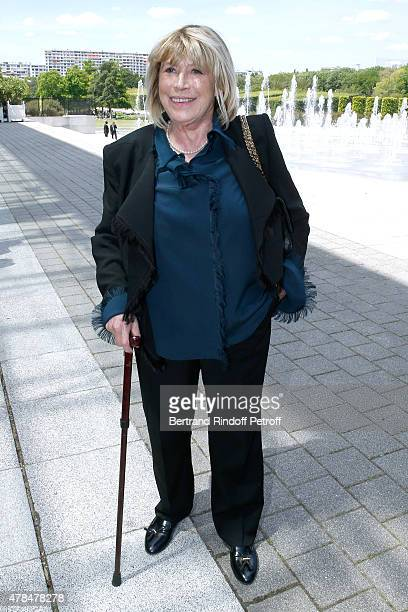 Singer Marianne Faithfull attends the Louis Vuitton Menswear Spring/Summer 2016 show as part of Paris Fashion Week on June 25 2015 in Paris France