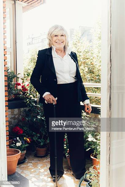 Singer Marianne Faithfull is photographed for Paris Match on September 12 2014 in Paris France