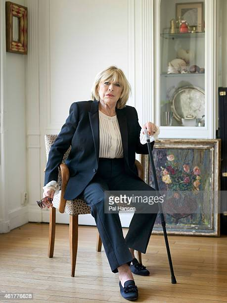 Singer Marianne Faithfull is photographed for the Sunday Times magazine on July 14 2014 in Paris France