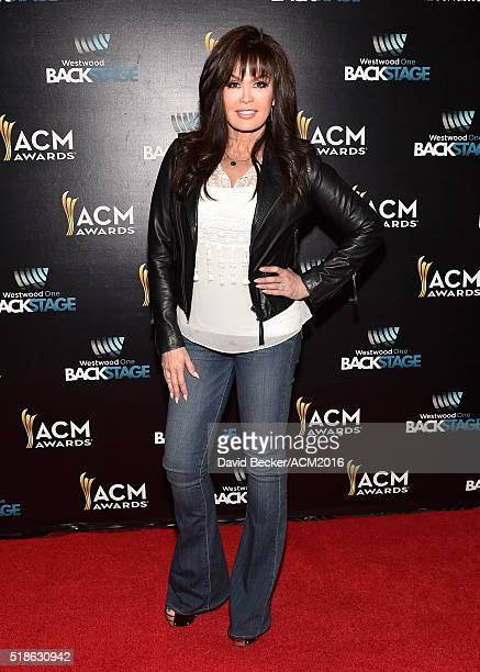 Singer Marie Osmond attends Westwood One Presents #WWOBackstage @ 51st ACMs at MGM Grand Garden Arena on April 1 2016 in Las Vegas Nevada