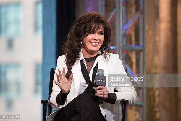 Singer Marie Osmond discusses 'Music is Medicine' at AOL Studios In New York on April 15 2016 in New York City