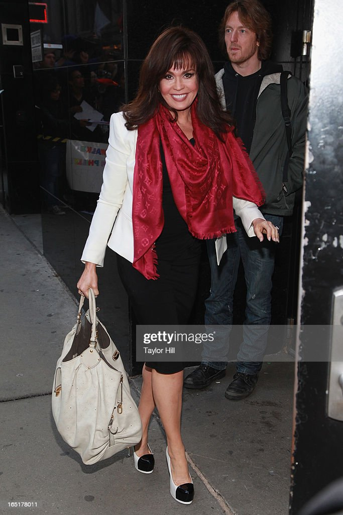 Singer Marie Osmond visits the set of 'Good Morning America' at GMA Studios on April 1, 2013 in New York City.