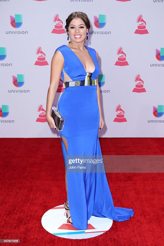 Singer Marielle Hazlo attends the 16th Latin GRAMMY Awards at the MGM Grand Garden Arena on November 19, 2015 in Las Vegas, Nevada.