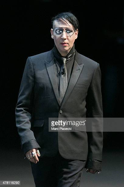 Singer Marilyn Manson attends the 'Cannes Lions Festival' on June 22 2015 in Cannes France