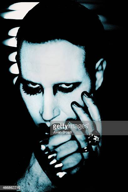 Singer Marilyn Manson is photographed for the Observer on December 5 2014 in London England
