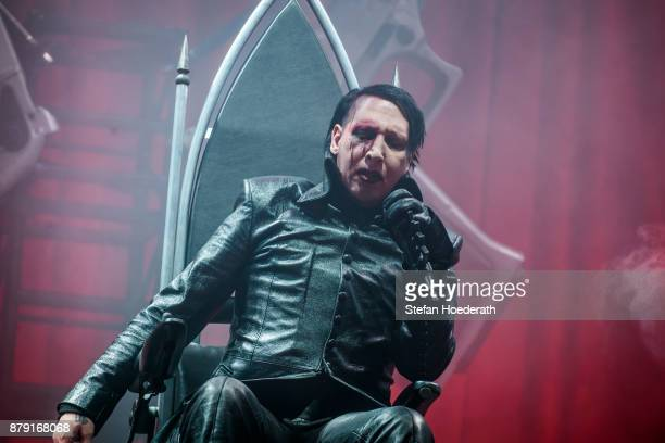 Singer Marilyn Manson performs live on stage during a concert at Velodrom on November 25 2017 in Berlin Germany