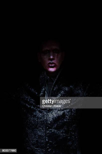 Singer Marilyn Manson photographed for Details Magazine on November 22 in Los Angeles California