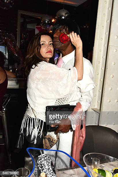 Singer Marina Celeste and Dexter Dex Tao attend the Dexter Dex Tao Birthday Party at the Xu Sushis bar on July 12 2016 in Paris France