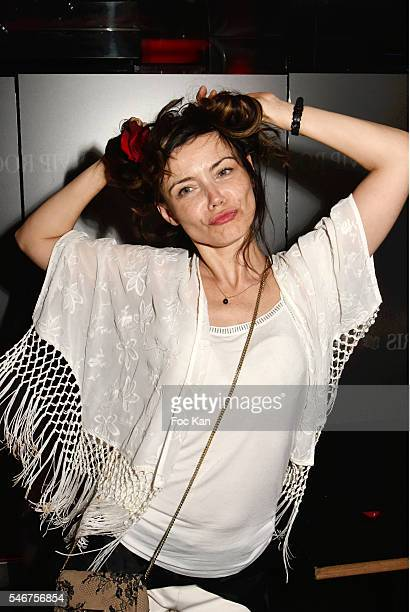 Singer Marina Celeste attends the Dexter Dex Tao Birthday Party at the Xu Sushis bar on July 12 2016 in Paris France
