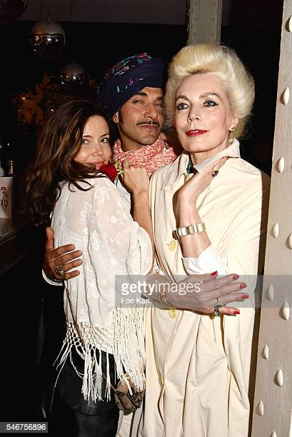Singer Marina Celeste Jewelry designer David Daim and Rodica Paleologue attend the Dexter Dex Tao Birthday Party at the Xu Sushis bar on July 12 2016...