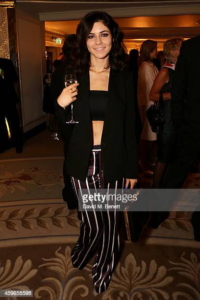 Singer Marina Diamandis attends Dancing Away photographic exhibition by Mikhail Baryshnikov at ContiniArtUK co hosted by Damiani on November 27 2014...