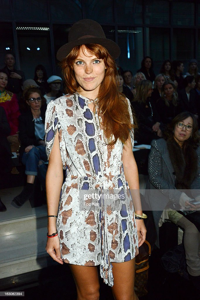 Singer Marion Corrales attends the John Galliano - Front Row - PFW F/W 2013 at Le Centorial on March 3, 2013 in Paris, France.