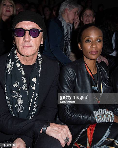 Singer Marius MuellerWesternhagen and Lindiwe Suttle attend the Yohji Yamamoto fashion show 'Cutting Age' at St Agnes Church on April 25 2013 in...