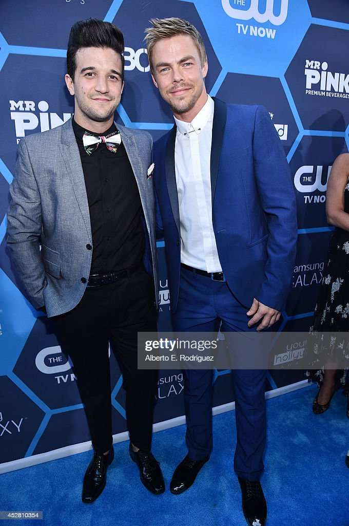 Singer Mark Ballas and dancer Derek Hough attend the 2014 Young Hollywood Awards brought to you by Samsung Galaxy at The Wiltern on July 27 2014 in...