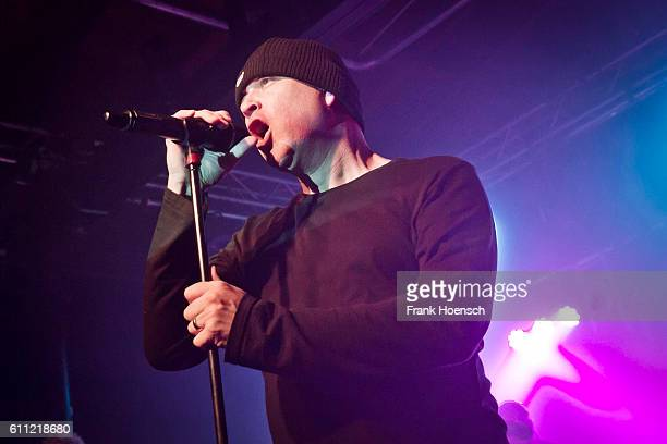 Singer Mark Hockings of the British band MESH performs live during a concert at the Postbahnhof on September 27 2016 in Berlin Germany
