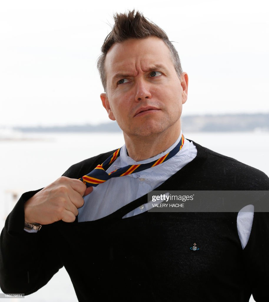 US singer Mark Hoppus poses during a photocall as part of the music world's largest annual trade fair, Midem, on January 28, 2013 in Cannes, southeastern France. The Midem music trade show will bring 7,000 of the global industry's biggest players together on the French Riviera for four days.