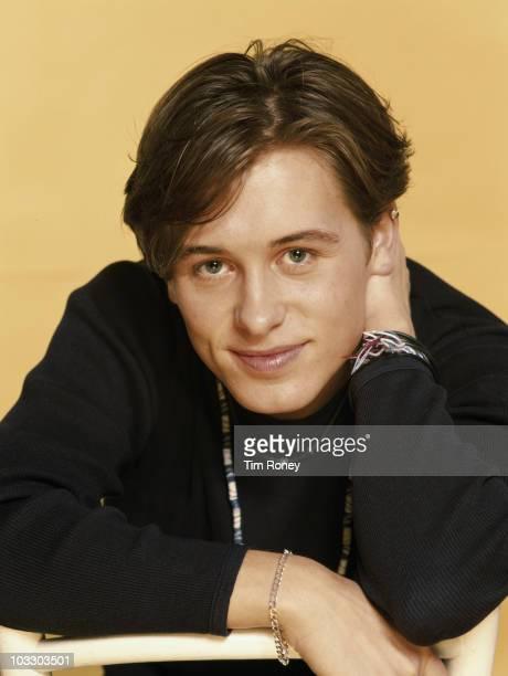 Singer Mark Owen of English boy band Take That circa 1993