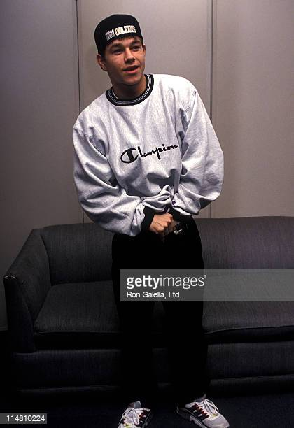 Singer Mark Wahlberg visits 'The Joan Rivers Show' on December 2 1992 at CBS Broadcast Center in New York City