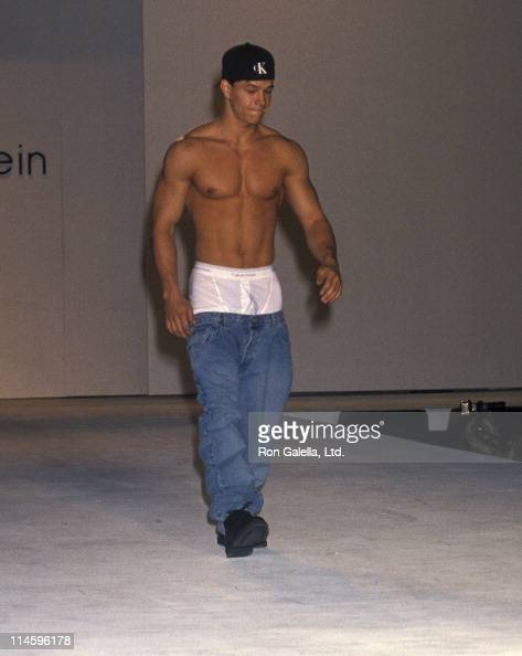 Singer Mark Wahlberg walks the runway at the Seventh Annual California Fashion Industry Friends of AIDS Project Los Angeles Benefit Dinner and...