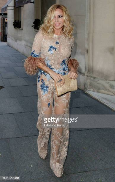 Singer Marta Sanchez attends the 'Corazon 20th anniversary' party at Alma club on June 27 2017 in Madrid Spain