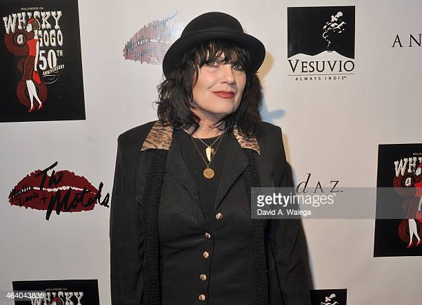Singer Martha Davis of The Motels arrives at the Whisky a Go Go on January 19 2014 in West Hollywood California