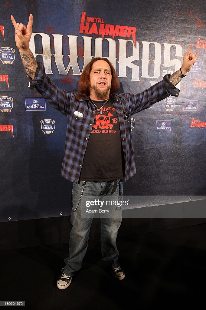 Singer Martin Kesici arrives for the fifth Metal Hammer Awards at Kesselhaus on September 13, 2013 in Berlin, Germany. The annual prizes are given by Metal Hammer, a German music magazine specialized in Heavy Metal and Hard Rock.