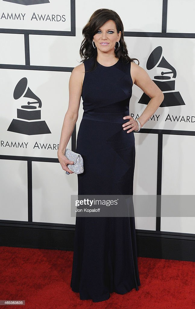 Singer Martina McBride arrives at the 56th GRAMMY Awards at Staples Center on January 26, 2014 in Los Angeles, California.