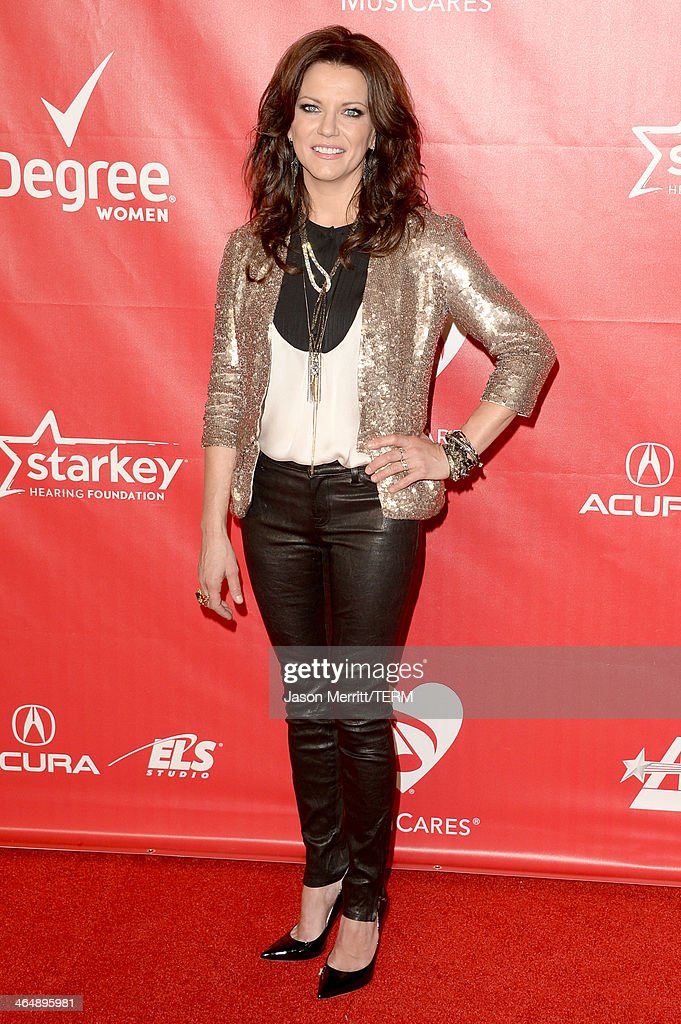 Singer Martina McBride attends The 2014 MusiCares Person Of The Year Gala Honoring Carole King at Los Angeles Convention Center on January 24 2014 in...