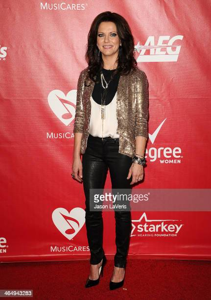 Singer Martina McBride attends the 2014 MusiCares Person of the Year honoring Carole King at Los Angeles Convention Center on January 24 2014 in Los...