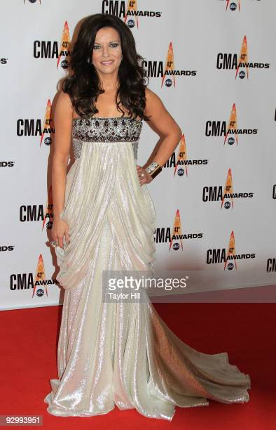 Singer Martina McBride attends the 43rd Annual CMA Awards at the Sommet Center on November 11 2009 in Nashville Tennessee