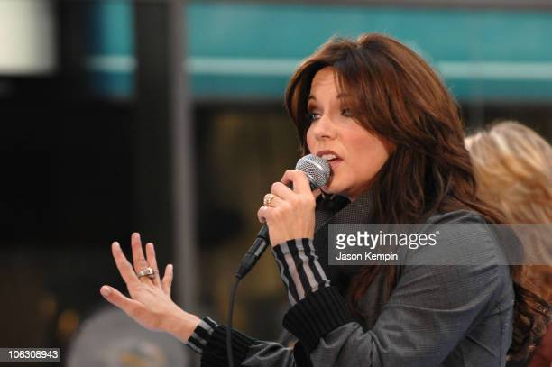 Singer Martina McBride performs on NBC's 'Today' Show Concert Series at the Rockefeller Center on August 24 2007 in New York City NY