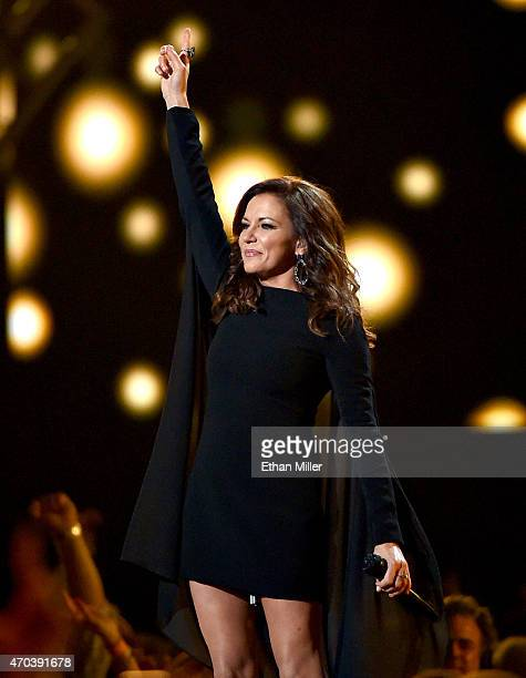 Singer Martina McBride performs onstage during the 50th Academy of Country Music Awards at ATT Stadium on April 19 2015 in Arlington Texas