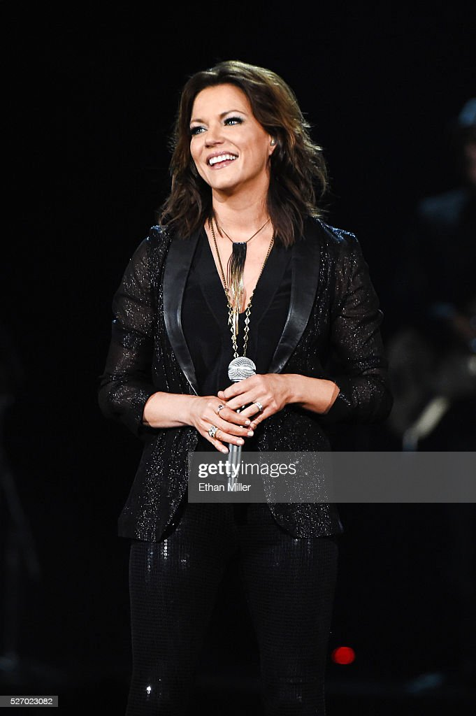 Singer <a gi-track='captionPersonalityLinkClicked' href=/galleries/search?phrase=Martina+McBride&family=editorial&specificpeople=204772 ng-click='$event.stopPropagation()'>Martina McBride</a> speaks onstage during the 2016 American Country Countdown Awards at The Forum on May 1, 2016 in Inglewood, California.